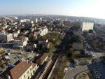 Ville en vue aerienne de drone