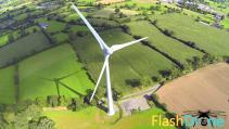 Vue aérienne d une éolienne photographiée par un drone