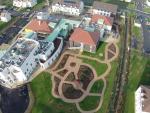 Vue aerienne d une ville par drone
