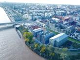 Vue aérienne de Bordeaux par drone