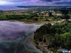 Vue aérienne de Bretagne par pilote de drone