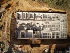 Vue aerienne de chantier par drone