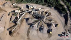 Vue aérienne de drone chantier en Corrèze