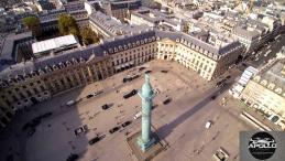 Vue aérienne de la place Vendôme a paris