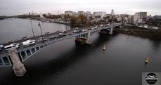 Vue aérienne de la Seine a Asnières-sur-Seine photo par drone