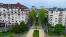 Vue aérienne de la ville de Pau dans les pyrènes atlantiques