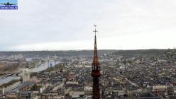 Vue aérienne de Rouen par drone en Normandie