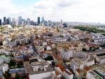 Vue aerienne de ville par drone