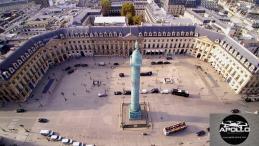 Vue aérienne des hôtels particuliers de la place Vendôme a Paris