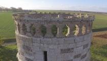 Vue aérienne détaille d un moulin photographie avec un drone