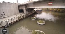 Vue aérienne détaillée du pont d'Issy les Moulineaux