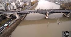 Vue aérienne du pont de Levallois Perret photographie avec un drone
