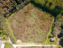 Vue aérienne par drone aménagement de terrain par pilote de Châteauroux