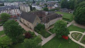 Vue aérienne par drone conservatoire de musique Evreux