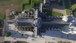 Vue aérienne par drone de la cathédrale d'Evreux