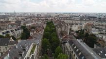 Vue aérienne par drone de Nantes