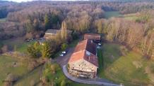 Vue aérienne par drone du territoire de Belfort en Franche Comte