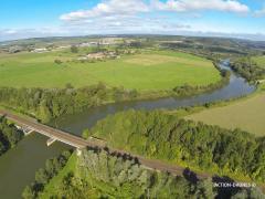 Vue aérienne par drone en Alsace