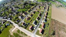 Vue aérienne par drone pilote Bourges