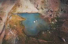 Vue aerienne par drone sur poitiers en nouvelle aquitaine