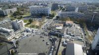 Vue aerienne par drone ville en haute garonne