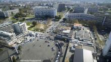 Vue aérienne par drone photo ville en haute garonne