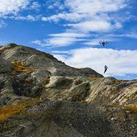 Vue aerienne paysage de montagne par drone