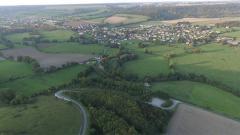 Vue aérienne paysage en Normandie