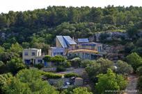 Vue aérienne maison d'architecte photographiée par drone Puy de Dôme