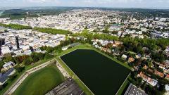 Vue du ciel de Versailles en île de France